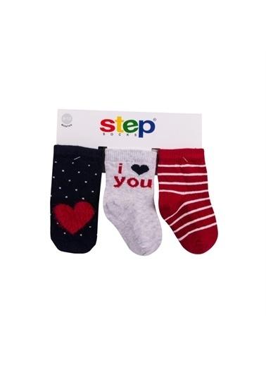 Step Step 3 Lü Kız Bebek Çorap Kırmızı
